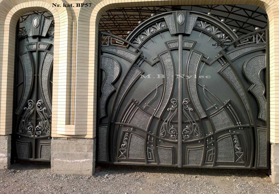 Brama pełna, ekskluzywna, nowoczesna bp57