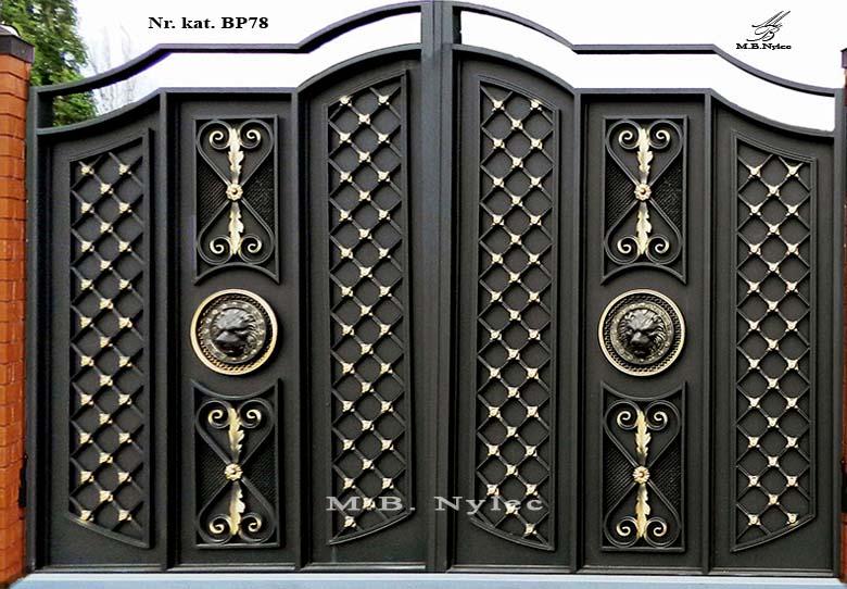 Nowoczesna brama kuta w stylu Glamour bp78